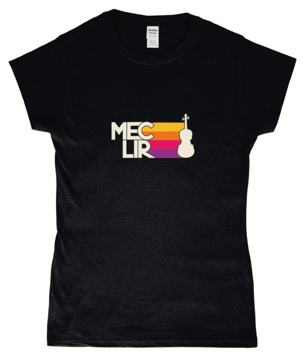 Ladies Black Fiddle T-Shirt